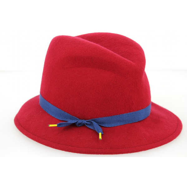 Chapeau cloche Natalina - Rouge