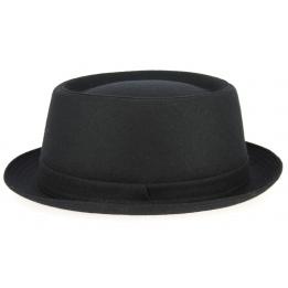 Chapeau Porpkie Gaeta Feutre Laine Noir- Traclet