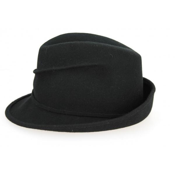 Chapeau Trilby Maciano Feutre Laine Noir- Traclet