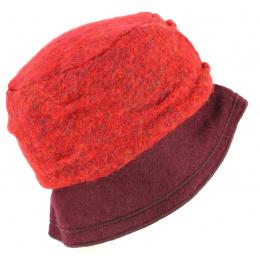 Chapeau Bob Odenas Rouge & Prune- Traclet
