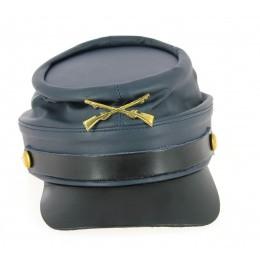 Casquette Style Nordiste Bleu Marine Cuir- Traclet