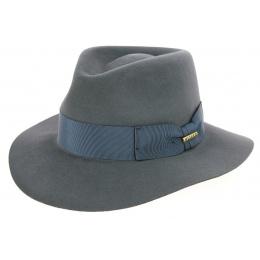 Chapeau Fedora Chester Feutre Poil Gris - Traclet