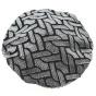 Louison Herringbone Beret Black & Grey- Mtm