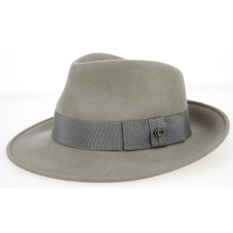 Chapeau Fedora Feutre Laine Perle- Traclet