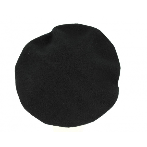 Béret Roll Up Cachemire Noir- Traclet