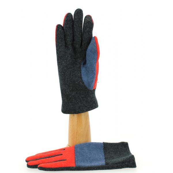 Gants Tactiles Femme ZigZag Rouge- Traclet