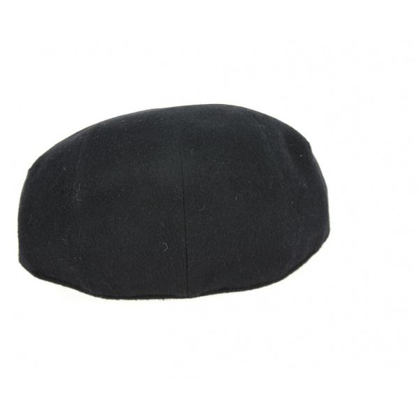 Casquette Plate Tarente Cachemire Noire- Traclet
