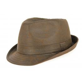 Chapeau Trilby Fajolles Coton Marron- Traclet
