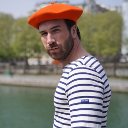The Classic Orange French Beret- Le Béret Français