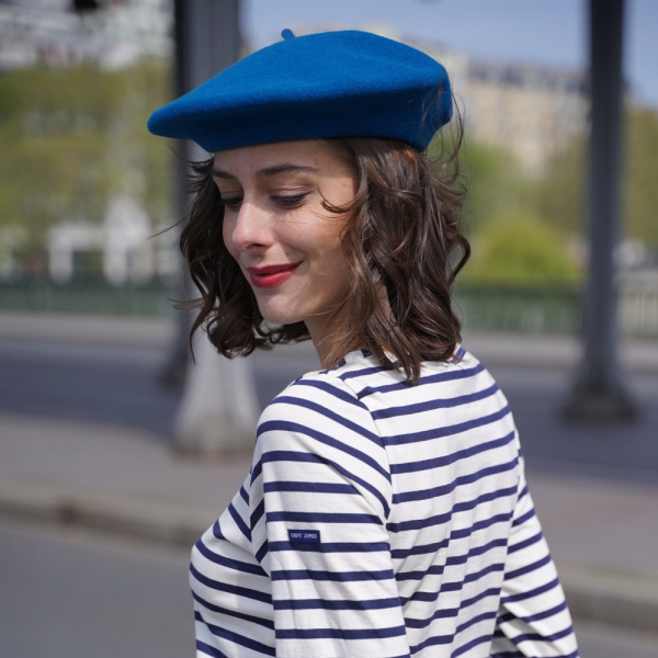 The Classic Blue French Beret- Le Béret Français