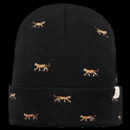 Bonnet Court Vinson Broderie Tigre Noir- Barts