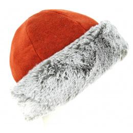 Toque Nayeli Brick & Taupe Fake Fur - Tracletal