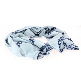 Foulard Peace and Skull Bleu
