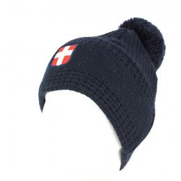 Bonnet à Pompon Savoie Marine - Le Drapo
