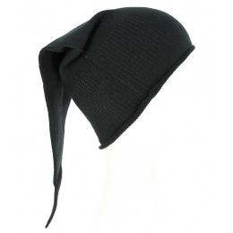 Bonnet de Nuit Long Chacarel Coton Noir- Traclet