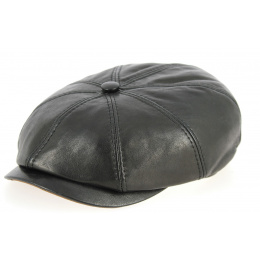 Casquette Hatteras Chester Nappa Cuir Noire- Traclet