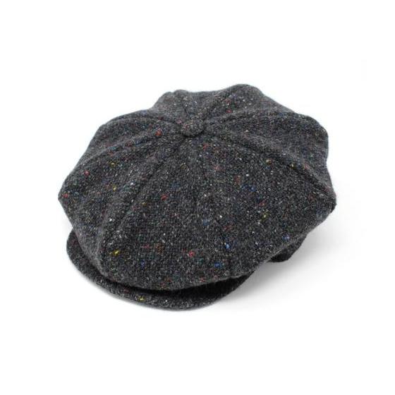 Casquette Irlandaise Herringbone Gris Chiné - Hanna Hats