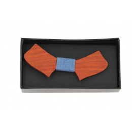 Rosewood bow tie man and woman Kikai Blue Jean- Traclet