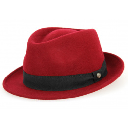 Trilby Unity Unity Hat Felt Plum Wool - Traclet