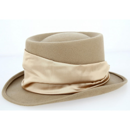 Beige-Traclet Half Top Hat