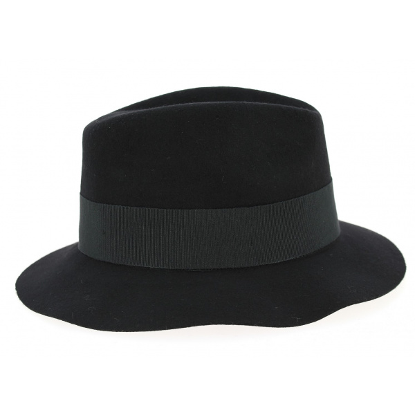 Chapeau Fedora Maxwell Feutre Laine Noir- Herman