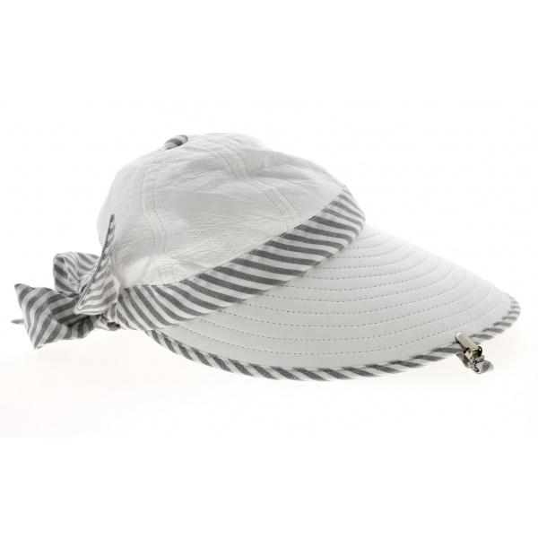 Casquette Visière Haute Protection Bauloise Blanc - Soway