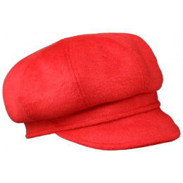 Cap Gavroche Woman Wool Red - Traclet