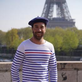 The Classic Blue Denim French Beret- Le Béret Français
