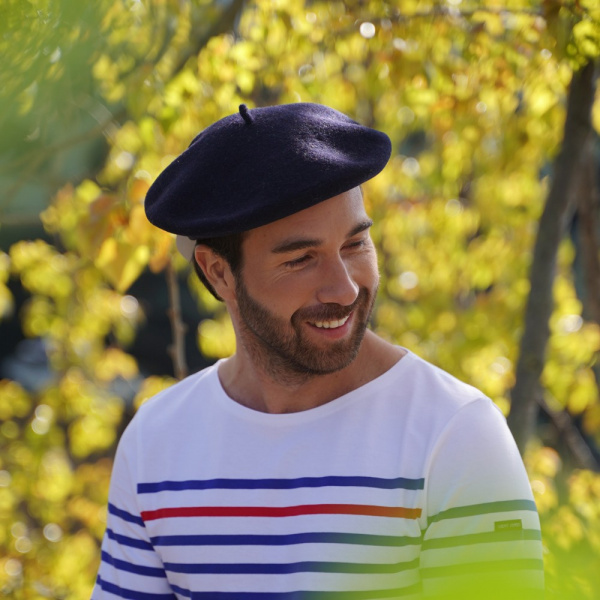 The Classic Navy French Beret- Le Béret Français