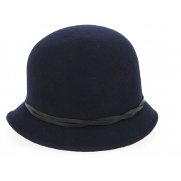hat cloche black 30s
