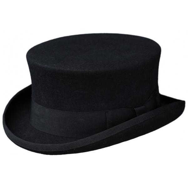 Chapeau Demi Haut de Forme Feutre Laine Noir- Traclet