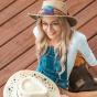 Australian hat leather woman Beige - Jacaru