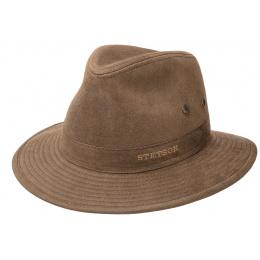 Brown Cotton Traveller Hat - Stetson
