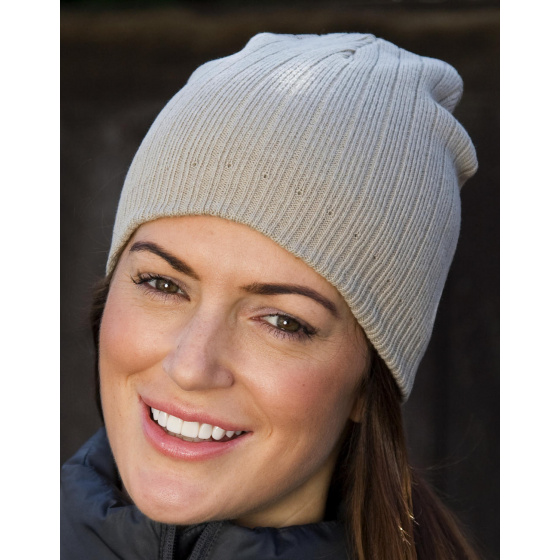 Beige Cotton Night Cap