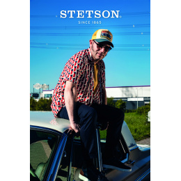 Baseball Cap Trucker Sunset Blue & Yellow - Stetson