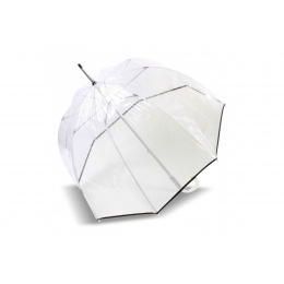 Umbrella Bell Transparent Black- Isotoner