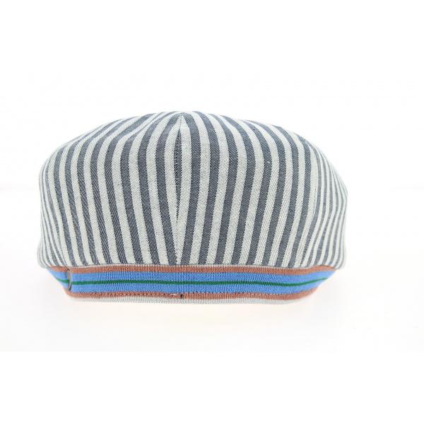 Casquette Hatteras avec Rayures Bleues Coton- Traclet