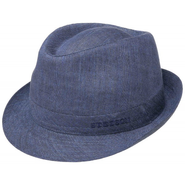 Chapeau Trilby Lin Bleu Foncé- Stetson