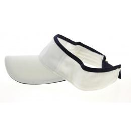 White & Navy Cotton Visor - Traclet