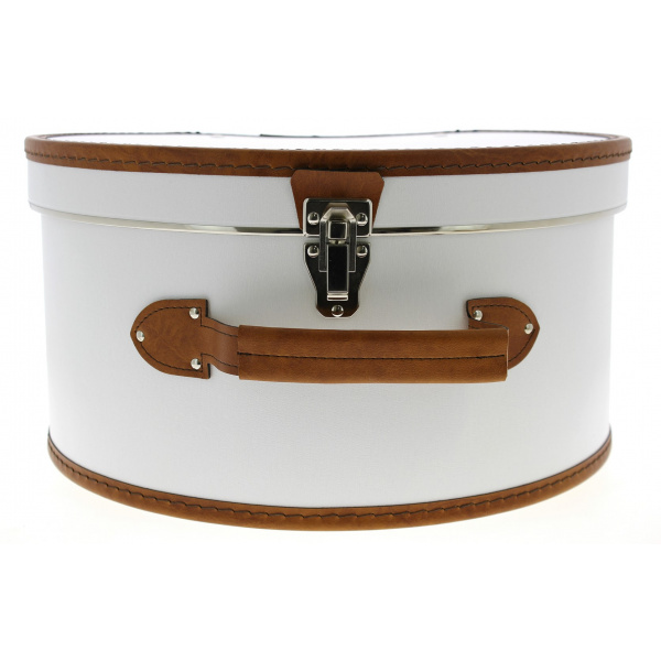 Boîte à Chapeau Blanc & Marron- Traclet