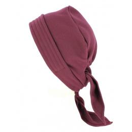 Turban Foulard Chimiothérapie Coton Prune- Traclet