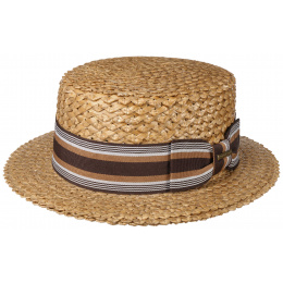 Natural Straw Vintage Boat - Stetson