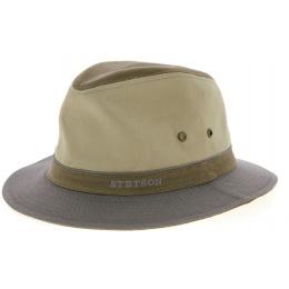 Chapeau Traveller Coton Gris & Beige- Stetson