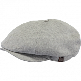 Jamaica Cotton Light Grey Flat Cap - Barts
