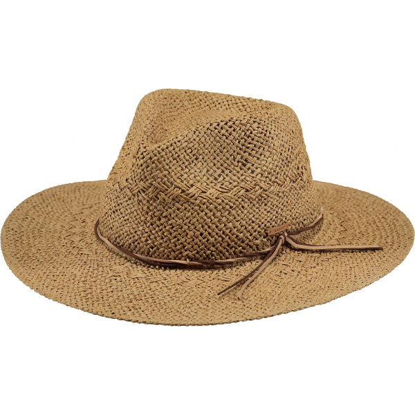 Chapeau Traveller Arday Paille Papier Marron Clair- Barts