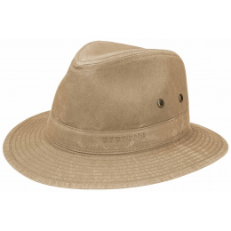 Traveller Hat Virginia Organic Cotton Dark Beige-Stetson