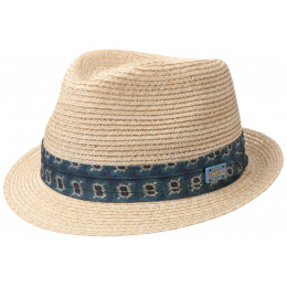 Trilby Abaca Natural Straw Trilby Hat - Stetson