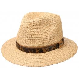 Straw Traveller Hat Natural Raffia Straw - Stetson