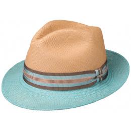 Chapeau Trilby Panama Rose & Bleu- Stetson