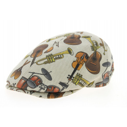 Musical Cap Plate Cotton Beige-Fleet